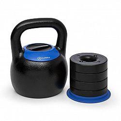 KLARFIT Adjustabell, nastavitelný kettlebell, 16/18/20/22/24 kg, černo/modrý