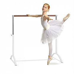 KLARFIT Bar Lerina, baletní tyč, volně stojící, 110 x 113 cm, 38 mm v průměru, bílá