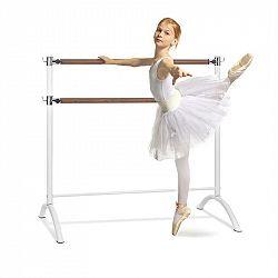 KLARFIT Barre Anna, dvojitá baletní tyč, 110 x 113 cm, 2 x 38 mm v průměru, bílá