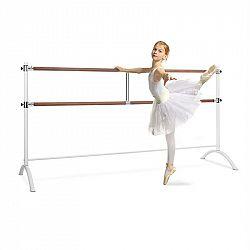 KLARFIT Barre Anna, dvojitá baletní tyč, 220 x 113 cm, 2 x 38 mm v průměru, bílá
