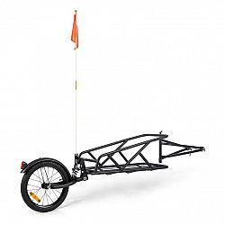 KLARFIT Follower, přívěs za kolo, 16'' kolo, jednokolový, nosnost nákladu 35 kg, černý