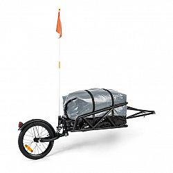 KLARFIT Follower, sada přívěsu za kolo, 16'' kolo, nosnost nákladu 35 kg, 120l transportní taška