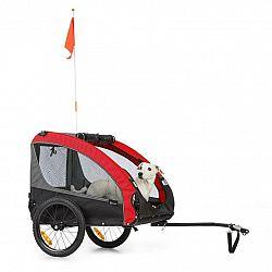KLARFIT Husky Race, přívěs na kolo pro psy, 282 l, 40 kg, 600 D, oxfordské plátno, červený