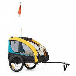 KLARFIT Husky Race, přívěs na kolo pro psy, 282 l, 40 kg, 600 D, oxfordské plátno, modrý