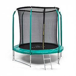 KLARFIT Jumpstarter, trampolína, 2,5 m Ø, síť, 120 kg max., tmavozelená