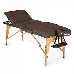 KLARFIT MT 500, hnědý, masážní stůl, 210 cm, 200 kg, sklápěcí, jemný povrch, taška