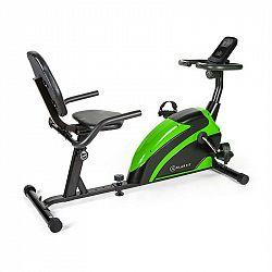 KLARFIT Relaxbike 6.0 SE, ležící ergometr, 12 kg, setrvačník, 100 kg, zelený