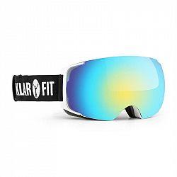 KLARFIT Snow View 2, lyžařské brýle, snowboardové brýle, ochranný povlak, bílé