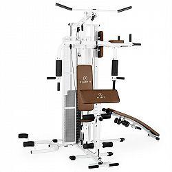 KLARFIT Ultimate Gym 5000, bílá, multifunkční fitness stanice