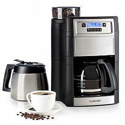Klarstein Aromatica II Duo, kávovar, integrovaný mlýnek, 1.25 l, stříbrný