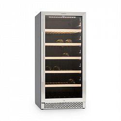 Klarstein Botella 120S, chladnička na víno, 270 litrů, ušlechtilá ocel, LED