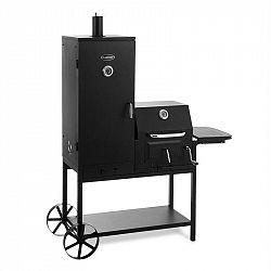 Klarstein Fleischbrocken, gril na dřevěné uhlí, udírna, BBQ gril, černý
