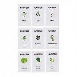 Klarstein GrowIt Seeds, sada semen, 9 balíčků semen: 3  xAsie, 3 x Evropa, 3 x Salát