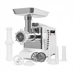Klarstein Kraftprotz, elektrický mlýnek na maso, 700 W, měděný motor, bílý/stříbrný