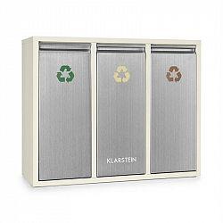 Klarstein Ordnungshütter 3, 45 l, krémově-béžový, box na tříděný odpad, 3x 15 l