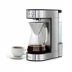 Klarstein Perfect Brew, kávovar, 1800 W, časovač, skleněná konvice, ušlechtilá ocel, stříbrný