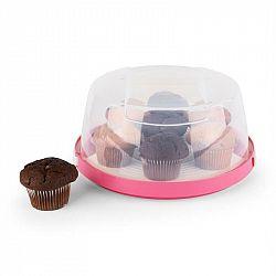 Klarstein Pinkkäppchen, kryt na dort, box na koláč, ø 26 cm, modrý