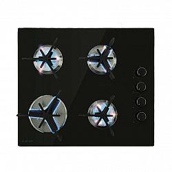 Klarstein Trifecta 4, plynová varná deska, 4 trojúhelníkové hořáky, sklokeramika, černá