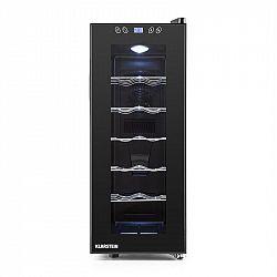 Klarstein Vinamora, černá, chladnička na víno, 35 litrů, 12 lahví, LED, dotyková