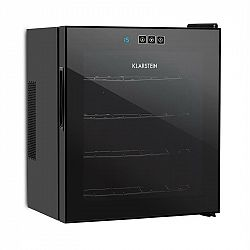 Klarstein Vinarium vinotéka, 14 l 4 lahve, dotyková, 38 dB, skleněné dveře, černá barva