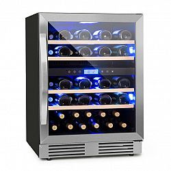 Klarstein Vinovilla Duo 43, 2-zónová chladnička na víno, 129 l, 43 lahví, 3 barvy, skleněné dveře