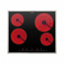 Klarstein Virtuoso 4 Prime, zabudovaná varná deska, 4 zóny, 6500W, sklokeramika, rám z ušlechtilé oceli