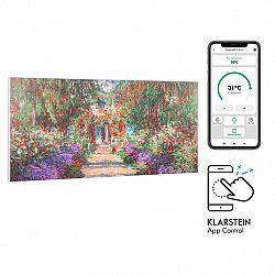 Klarstein Wonderwall Air Art Smart, infračervený ohřívač, 120 x 60 cm, 700 W, aplikace, zahradní cesta