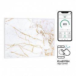 Klarstein Wonderwall Air Art Smart, infračervený ohřívač, 80 x 60 cm, 500 W, aplikace, mramor
