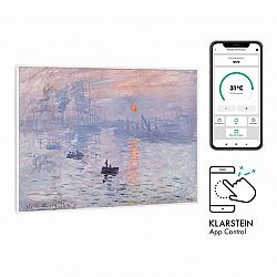 Klarstein Wonderwall Air Art Smart, infračervený ohřívač, 80 x 60 cm, 500 W, aplikace, východ slunce