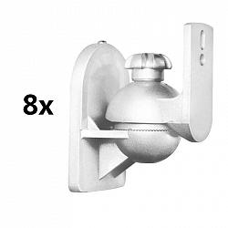 LUA SB-28, bílý, držák reproduktoru, 8ks sada, < 3,5 kg, domácí kino, HiFi