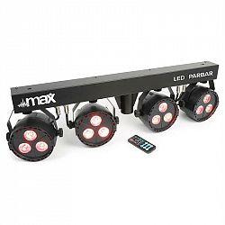 MAX Max led par-bar-set 4 cestní kit 3x 4-v-1 led rgbw včetně t-baru a stojanu