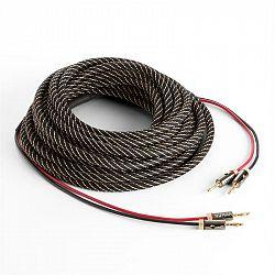 Numan reproduktorový kabel, OFC, měděný, 2 x 3,5 mm2, 5 m, textilní obal, standardizovaný