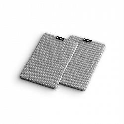 Numan Retrospective 1979 S, šedý, textilní kryt, 2 kusy, potah na regálový reproduktor