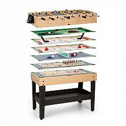 OneConcept Game-Star hrací stůl s 15 hrami, multigame, odkládací prostor, MDF