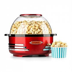 OneConcept Klarstein Couchpotato, červený, popcornovač, elektrické zařízení na přípravu popcornu