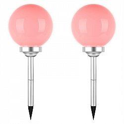 OneConcept Led-Flower 24, 2x zahradní svítidlo, solární lampa, ø 24 cm, 4 RGB LED diody, IP44 červená
