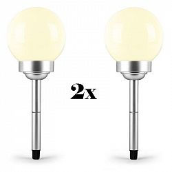 OneConcept LED-Flower 30, 2x zahradní svítidlo, solární lampa, Ø 30 cm, 4 LED diody, IP44, teplá bílá