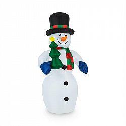 OneConcept Mr. Frost, 240 cm, nafukovací sněhulák, vánoční dekorace, LED