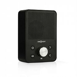 OneConcept Plug+Play FM, rádio do zásuvky, FM tuner, USB, BT, černé