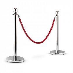 OneConcept Silver Gate, stříbrná/červená, vodicí systém osob, 2 oddělovací sloupky a lano
