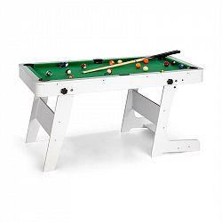 OneConcept Trickshot, kulečníkový hrací stůl, 140 x 64,5 cm, 16 koulí, 2 kulečníkové hole, MDF, bílý