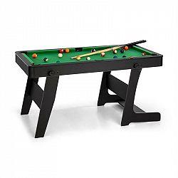 OneConcept Trickshot, kulečníkový hrací stůl, 140 x 64,5 cm, 16 koulí, 2 kulečníkové hole, MDF, černý