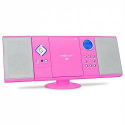 OneConcept V-12-BT, stereo zařízení, růžové