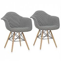 OneConcept Visconti židle, 2-dílná sada, polstrovaná PP-konstrukce, černá barva