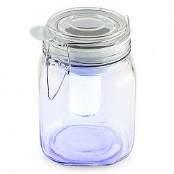 OneConcept Wetterfrosch, LED světlo, zavařovací sklenice, solární, akumulátor, žluté/modré