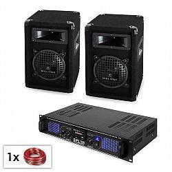 """PA set """"Malone SPL MP3"""" pár 16cm reproduktorů & zesilovač 300 W"""