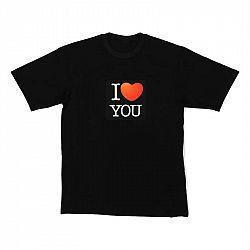 Resident DJ LED triko I LOVE YOU, velikost M