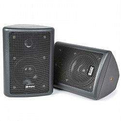 Skytec pár 2pásmových stereo reproduktorů, černé, 75 W max., včetně montážního materiálu