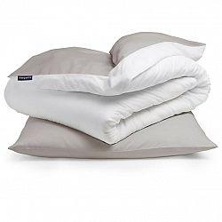 Sleepwise Soft Wonder-Edition, povlečení, 135x200cm, hnědošedá/bílá