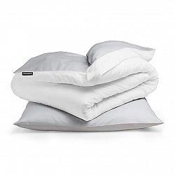 Sleepwise Soft Wonder-Edition, povlečení, 135x200cm, světle šedá/bílá